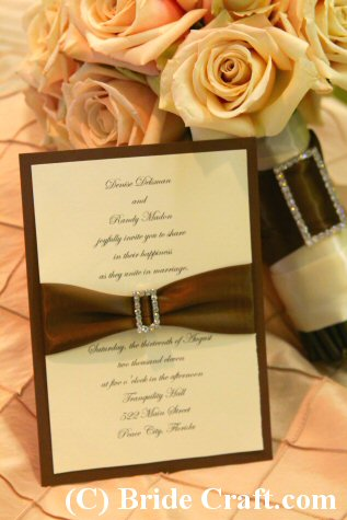 Craft Ideas Simple on How To Make This Elegant Wedding Invitation
