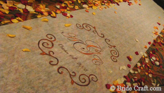 aisle runner monogram