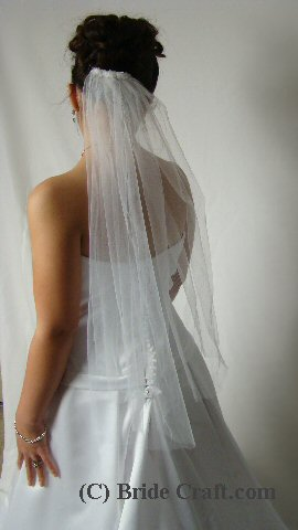 1.5 Meters One Layer Lace Edge Wedding Veil With Comb White Iovry ...
