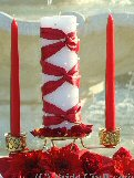 Ribbon and Pearl Unity Candle