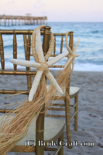 Beach wedding decoration dreaming of ways to bring more of a beach feel to your wedding ceremony try these easy beach wedding decorations these starfish aisle markers are perfect junglespirit Image collections